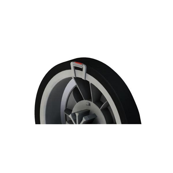 大容量シルバーカー/手押し車 【スタンダードタイプ】 幸和製作所 『レコルティII』 ブラック 北欧柄 〔介護用品 福祉用品〕