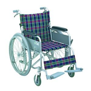 アルミ製 車椅子 【背折れタイプ】 自走・介助兼用 軽量 折り畳み ハンドブレーキ付き SG取得商品 〔介護用品 福祉用品〕