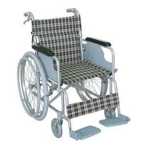 アルミ製 車椅子 【背折れタイプ】 自走・介助兼用 軽量 折り畳み テイコブハンドブレーキ付き 〔介護用品 福祉用品〕