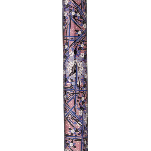 シックな花柄デザインが際立つクッション機能付きステッキ テイコブ伸縮クッションステッキ コバナパープル
