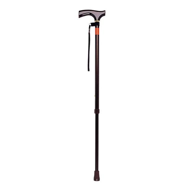 ベーシックな伸縮タイプ、杖を初めて使う人にピッタリ! ピッチ杖 ブラウン