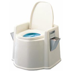 テイコブポータブルトイレ(肘掛け付) - 拡大画像