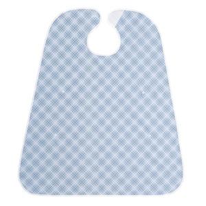 食事用ポケット付エプロン ブルー - 拡大画像
