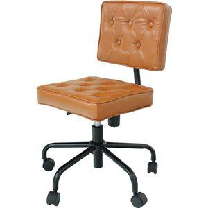 オフィスチェア(パソコンチェア/パーソナルチェア) Jewel 張地:合成皮革(合皮) 昇降式 高さ調節可 キャスター付き キャメル