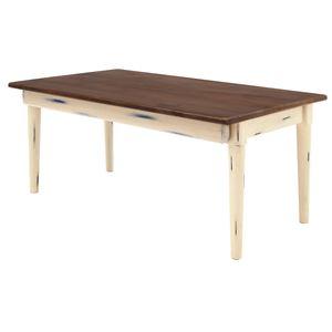 折りたたみテーブル(ローテーブル/コーヒーテーブル) Daisy 木製 幅80cm 幕板付き ショコラ 【完成品】