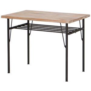 ダイニングテーブル(リビングテーブル) JOKER 幅90cm 木製/杉古材×スチール 木目調