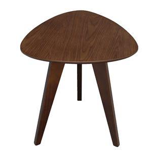 サイドテーブル(ミニテーブル/補助机) ビスキュイ 木製 高さ45cm 北欧風 ブラウン