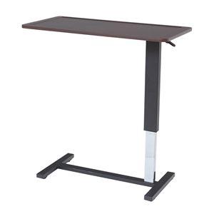 昇降式テーブル(サイドテーブル/補助机) フォロン 幅90cm 天板フチ/キャスター付き - 拡大画像