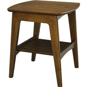 サイドテーブル(ミニテーブル/コーヒーテーブル) ロージー 幅45cm 木製 収納棚付き 木目調