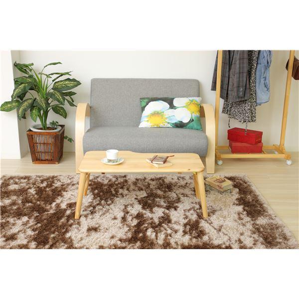 折りたたみテーブル(パソコンデスク/ローテーブル) mite 木製 幅80cm ナチュラル2
