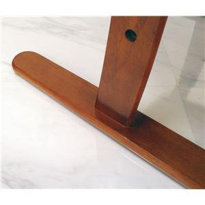 肘付き高座椅子/リクライニングチェア 【安定型】 木製 高さ調節可 ベージュフラワー