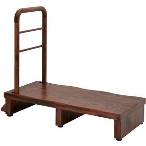 手すり付きうずくり玄関台 (ステップ/踏み台) 幅90cm アジャスター付き 【組立品】