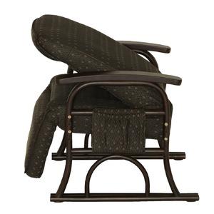 漣-さざなみ- ラタンフットレスト付き高座椅子 リクライニングチェア ブラウン