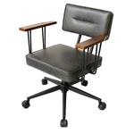 オフィスチェア(パソコンチェア/パーソナルチェア) 昇降式 高さ調節可 キャスター/肘付き