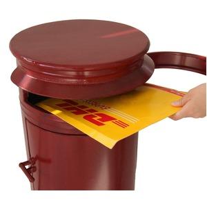 ドラム型 郵便受け/スタンドポスト 【レッド】 レトロ調 大きいサイズ 置き型 『CHICAGO』 【完成品】