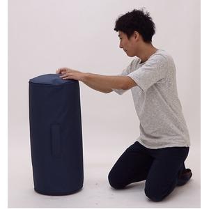 圧縮ウレタンソファー/ローソファー 【1人掛け ネイビー】 肘付き 自動膨張式 『LIBREST リブレスト』