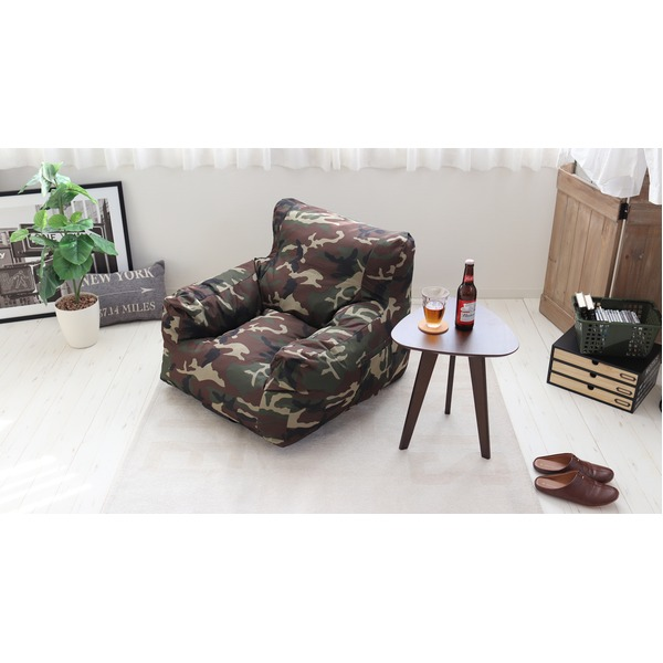 圧縮ウレタンソファ【LIBREST-1P-】(リブレスト)【1人掛け】  ローソファ 座椅子 カモフラージュ