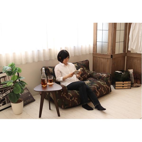 圧縮ウレタンソファ【LIBREST-2P-】(リブレスト)【2人掛け】  ローソファ カモフラージュ