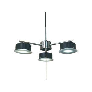ペンダントライト 北欧風 3灯 黒(ブラック) シーリングLEDライト(照明器具) X-7BK - 拡大画像