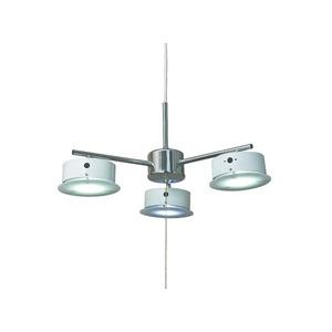 ペンダントライト 北欧風 3灯 白(ホワイト) シーリングLEDライト(照明器具) X-7WH - 拡大画像