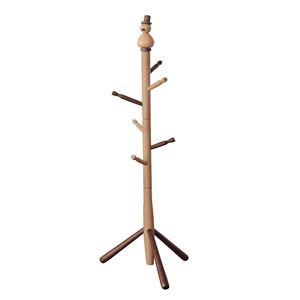 キッズポールハンガー/コートハンガー 【トリ】 高さ127cm 木製 ナチュラルブラウン 〔子供部屋家具 キッズ家具 什器〕 - 拡大画像