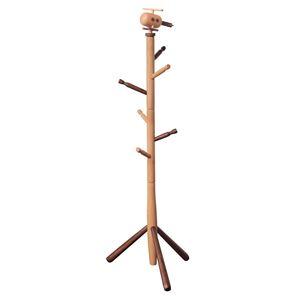 キッズポールハンガー/コートハンガー 【ヘリコプター】 高さ123cm 木製 ナチュラルブラウン 〔子供部屋家具 キッズ家具 什器〕 - 拡大画像