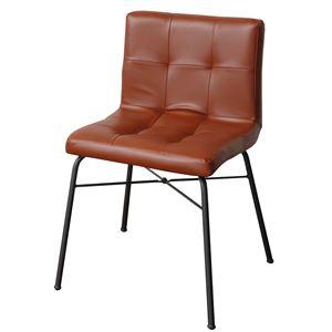 ダイニングチェアー anthem Chair ブラウン 【組立品】 - 拡大画像