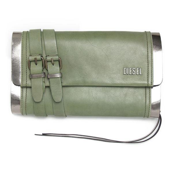 DIESEL (ディーゼル ) X01725 PS945 H4547 クラッチバッグ Military Green/Gun Metal