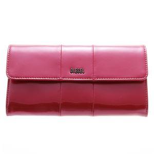 DIESEL (ディーゼル ) X02414 PR035 H3090 折長財布 Metallic Pink
