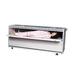 モデル人形格納ケース 【2体用】 幅208cm×奥行61cm×高さ84cm 木製 M-101-2 - 拡大画像