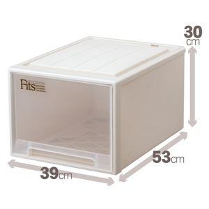 クローゼット収納/衣装ケース 【幅39cm×高さ30cm】 レギュラーサイズ 『Fits フィッツケース』 日本製 - 拡大画像