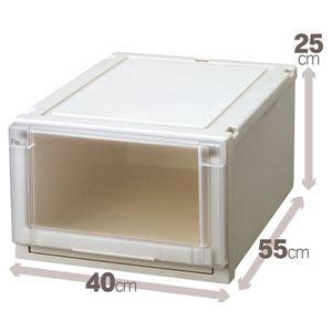 収納ボックス/衣装ケース 『Fits フィッツユニットケース』 幅40cm×高さ25cm 日本製