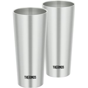 真空断熱タンブラー 【400ml/2個セット】 ステンレス 直径7cm×高さ16cm/1個 保温・保冷 『THERMOS サーモス』 - 拡大画像