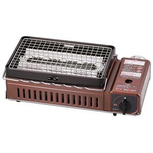 炉ばた焼き器(卓上カセットコンロ/調理器具) 本体のみ 無段階火力調節可 焼き網1枚付き 日本製 『イワタニ カセットガス』 - 拡大画像