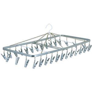 ピンチハンガー(角ハンガー/洗濯物干し) 30ピンチ 幅76cm スチール製 - 拡大画像