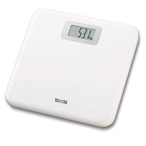 TANITA タニタ 薄型体重計/ヘルスメーター 【デジタル】 幅280mm ホワイト(白) ステップオン式