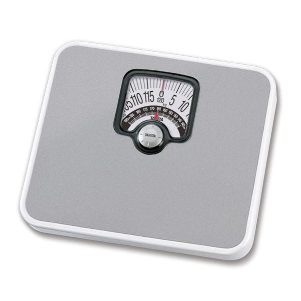 TANITA タニタ 体重計/ヘルスメーター 【アナログ】 シルバー チェッカー付き 最小表示:1kg