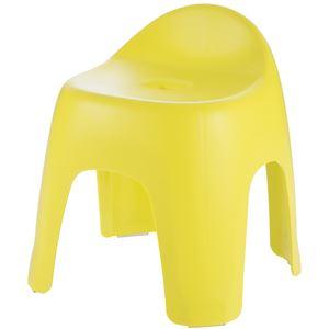 バスチェア(風呂椅子/腰掛け) ハイチェアタイプ 座面高30cm イエロー 4本脚 日本製 『ハユール』 - 拡大画像