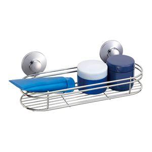 ウォールラック(壁収納棚/バスラック) ステンレス製 幅30cm 強力吸盤 〔キッチン収納 浴室収納 洗面所収納〕 - 拡大画像
