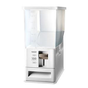 計量米びつ/ライスストッカー 【12kg型 ホワイト】 計量単位(約):1合 プラスチック製 洗える