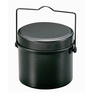 林間飯盒/飯ごう 【丸型 4合炊き】 2合炊き・4合炊き用水量線付き 『キャプテンスタッグ/CAPTAIN STAG』 - 拡大画像