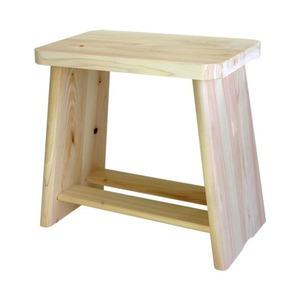 ひのき風呂椅子(バスチェア/檜製腰掛け) 大 幅31cm×奥行18cm×高さ28cm 木製 日本製 - 拡大画像