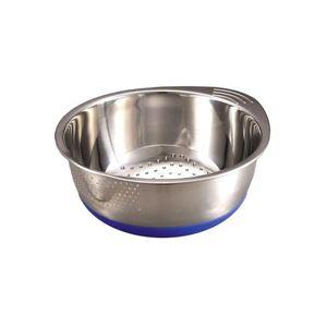 ムラなく研げる米スターボウル(米とぎ容器/キッチングッズ) ステンレス製 研げるお米の量:1合〜5合 ブルー(青) - 拡大画像