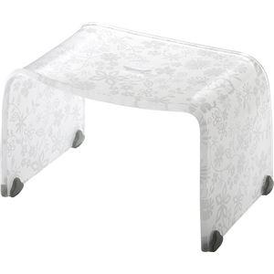 バスチェア/風呂椅子 【Sサイズ】 フラワー 高さ20cm 『フィルロ』 すべり止め 〔お風呂用品 バスグッズ バス用品〕 - 拡大画像