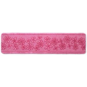 キッチンマット/フロアマット 【45×180cm ピンク】 洗える 裏面すべり止め加工 『ベルラ』