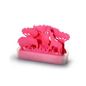 セキスイ 自然気化式ECO加湿器 うるおい サバンナ(ピンク) (紙 ペーパー加湿器) - 拡大画像