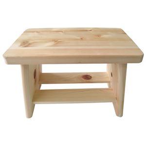 桧 ヒノキ 風呂風呂椅子/バスチェア 【S】 木製 幅29cm×奥行18cm×高さ20.5cm 日本製