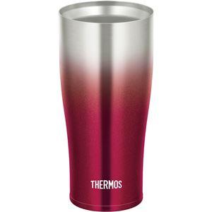 【THERMOS サーモス】 真空断熱タンブラー/カップ 【スパークリングレッド】 420ml 食洗機可 ヘアライン仕上げ ステンレス製 - 拡大画像