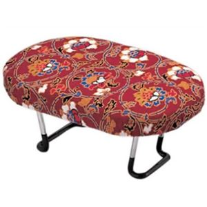 正座椅子/正座補助椅子 【赤】 折りたたみ式 重量(約):600g 日本製 〔法事 仏事 座り仕事 携帯用〕 - 拡大画像