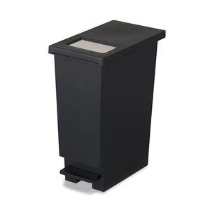 フタ付きゴミ箱/ダストボックス 【ブラック 20L】 S 2WAY 日本製 『ユニード プッシュ&ペダル』 - 拡大画像